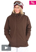 LIGHT Womens Pearl Snow Jacket brown