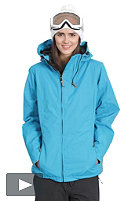 LIGHT Womens Pearl Snow Jacket electric blue