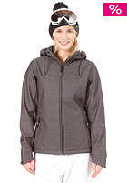 LIGHT Womens Pipa Softshell Jacket Black Denim