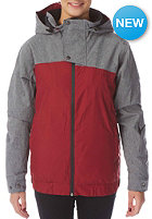 LIGHT Womens Ryder Jacket burgundy grey heather