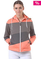LIGHT Womens Soul Hooded Zip Sweat coral fusion grey dark grey