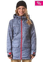 LIGHT Womens Torpedo Jacket blue denim