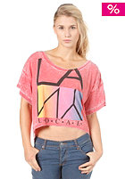 LOCAL CELEBRITY Womens LA NY Local Crop S/S T-Shirt tomato