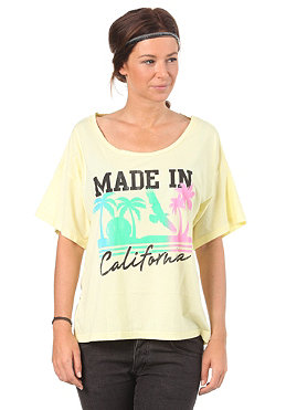 LOCAL CELEBRITY Womens Made In California S/S T-Shirt pale yellow