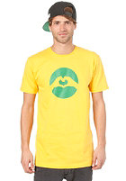 LOVE Classic Logo Brasil S/S T-Shirt yellow/green