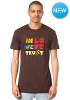 LOVE In Love We Trust Artist S/S T-Shirt brown