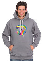 LOVE Logo Special Acid Hooded Sweat dark grey/acid