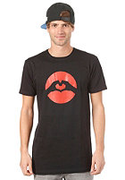 LOVE Panther Classic Logo S/S T-Shirt black/orange