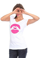 LOVE Womens Baby S/S T-Shirt white/rose