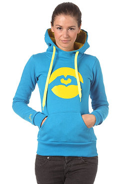 LOVE Womens Classic Logo Hooded Sweat 2012 turquoise/yellow