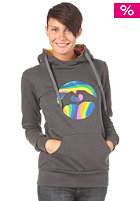 LOVE Womens Logo Special Acid Hooded Sweat dark grey/acid