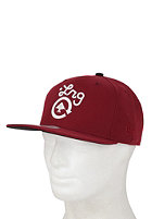 LRG Core Collection Four Snapback Cap maroon