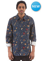 LRG Father Nature L/S Woven Shirt navy