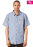 LRG Free Bricks Woven Shirt medium indigo