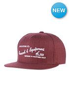 LRG Research&Equip Snapback Cap maroon