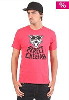 LRG Strt Chetah Slim FiT S/S T-Shirt red heather