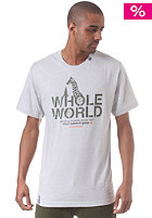 LRG Whole World S/S T-Shirt light ash heather