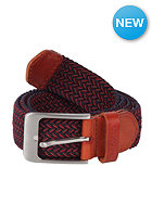 MAKIA Braided Canvas Belt navy/red