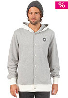 MAKIA Button Up Etnies Co-Op Hooded Sweat light grey melange/nature white