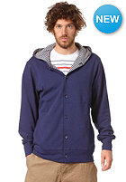 MAKIA Button Up Hooded Sweat blue