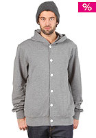 MAKIA Button Up Hooded Sweat medium grey