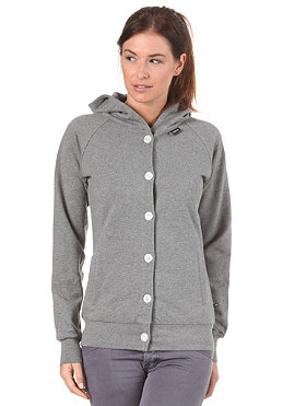 MAKIA Womens Button Up Hood Sweat grey