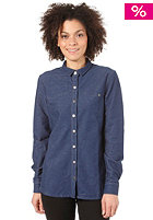 MAKIA Womens Knitted Denim Shirt blue