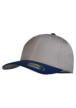MasterDis Baseball Flexfit Cap light grey/royal