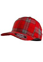 MasterDis Baseball Flexfit Plaid Cap red