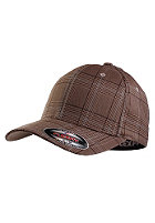 MasterDis Glen Check Flexfit Cap brown/khaki
