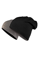MasterDis Jersey Beanie reversible black/heather charcoal
