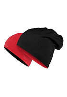 MasterDis Jersey Beanie reversible black/heather red