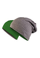 MasterDis Jersey Beanie reversible heather charcoal/kelly