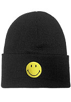 MasterDis Smiley Cuff Knit Beanie black