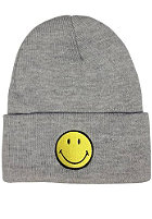 MasterDis Smiley Cuff Knit Beanie light grey