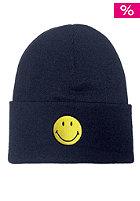MasterDis Smiley Cuff Knit Beanie navy