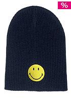 MasterDis Smiley Rib Knit Slouch Beanie navy