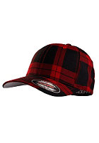 MasterDis Tartan Plaid Flexfit Cap black/red