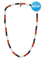 MasterDis Wood Fellas Deluxe Pearl Necklace black/red/white