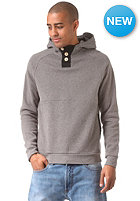 Basic Buttoned Hooded Sweat dark grey mel.