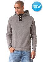 MAZINE Basic Buttoned Hooded Sweat dark grey mel.
