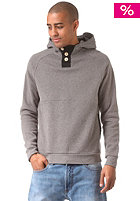 MAZINE Basic Buttoned Hooded Sweat dark grey mel.