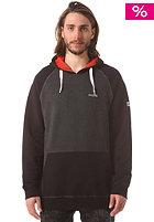 MAZINE Basic Hooded Sweat black melange / black
