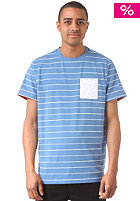 MAZINE Basic Striped Pocket S/S T-Shirt blue melange