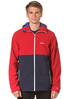 MAZINE Crag Softshell Jacket jester red / peacoat