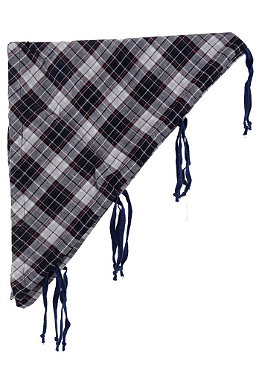 MAZINE Dora Scarf white/navy checked
