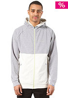 MAZINE Fade Hooded Sweat mid grey mel. / light grey