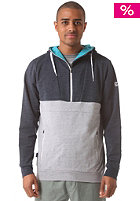 MAZINE Half Hooded Zip Sweat 01 neo blue melange / neo grey melange