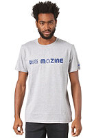 MAZINE Homebase S/S T-Shirt grey heather / mazineblue