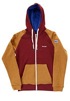 MAZINE Kids Basic Hooded Zip Sweat tawny port / brown mel.